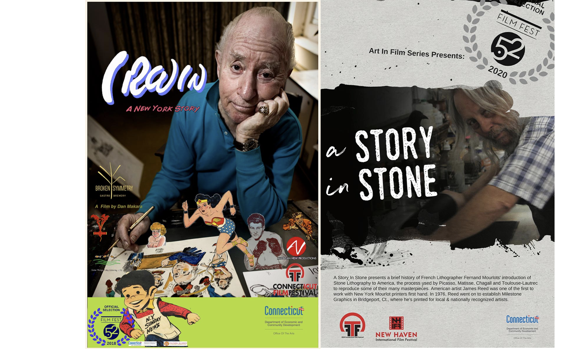 "Housatonic Museum of Art: Friday-Night Flick: Double Bill ""Irwin"" and ""A Story of Stone."""